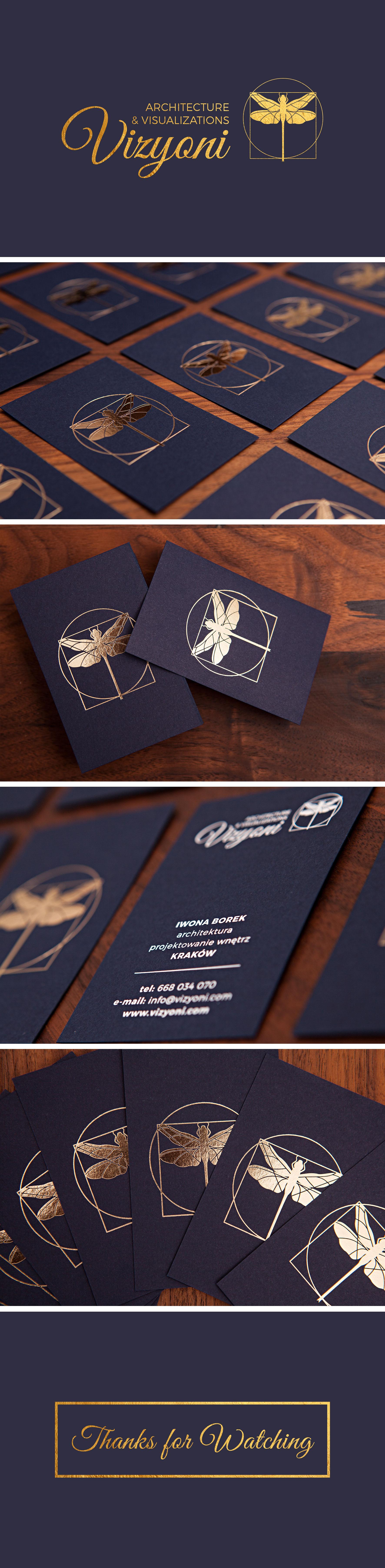 vizyoni- wizualizacja wizytówek, logo