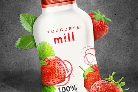 Jogurt Yougusse - projekt etykiet