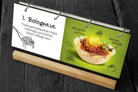 Pomidore Spaghetti Bar - projekt menu