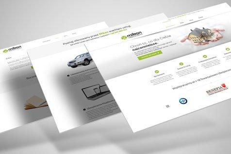 Ubezpieczenia Mikan - projekt strony www