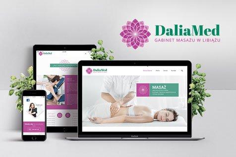 DALIAMED< - projekt strony internetowej