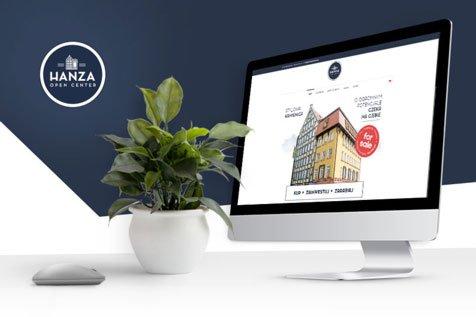 Hanza Open Center- projekt strony internetowej