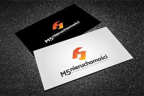 M5 Nieruchomości - projekt logo