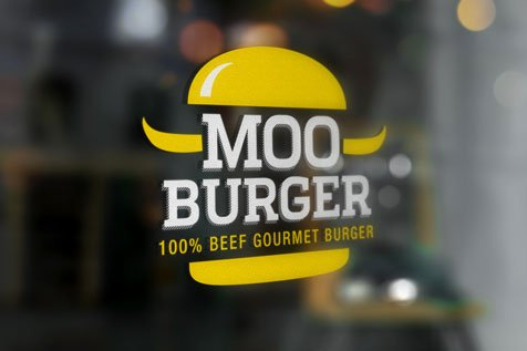 MOO BURGER - projekt logo