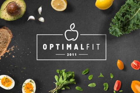 Optimal Fit - projekt logo, projekt ulotki