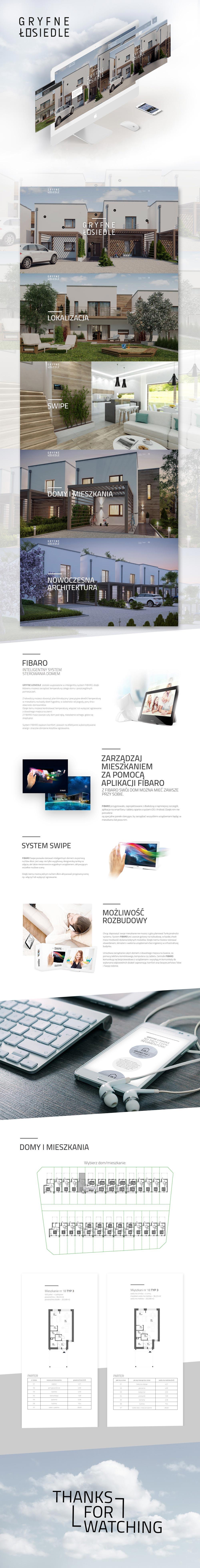 Gryfne łosiedle - projekt strony