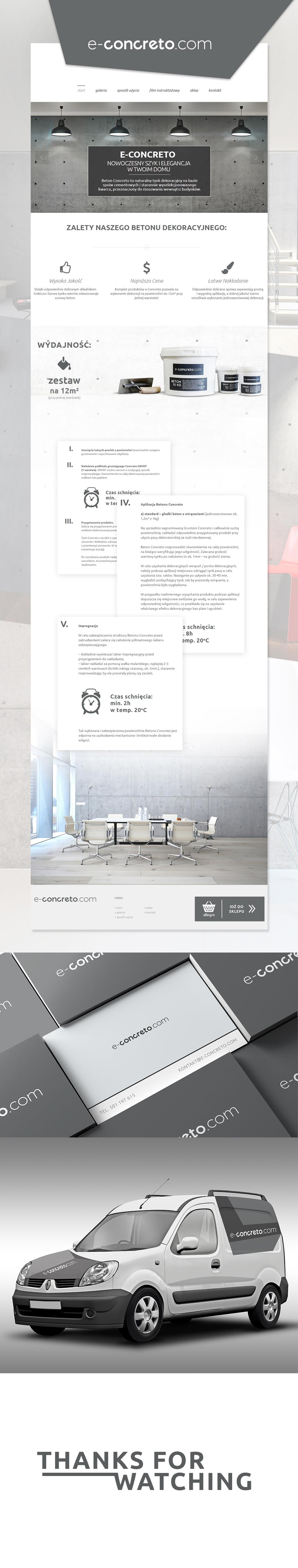 E Concreto Logo Website Design Agape Workshop