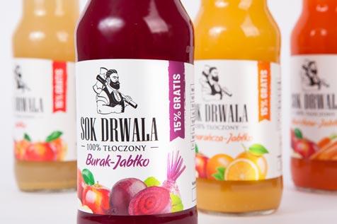 SOK DRWALA - projekt etykiety, zdjęcia produktowe